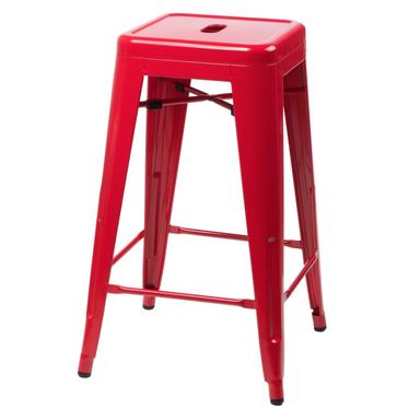 Hoker Paris 75cm czerwony inspirowany Tolix
