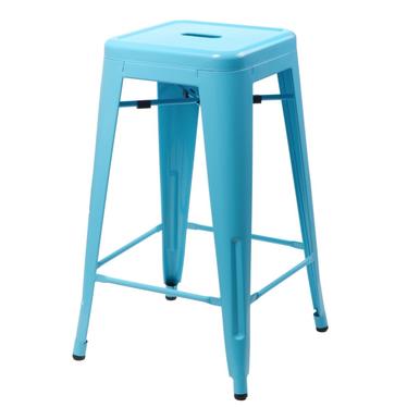 Hoker Paris 75cm niebieski inspirowany Tolix
