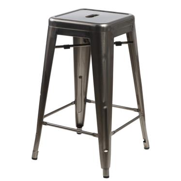 Hoker Paris 75cm metaliczny inspirowany Tolix