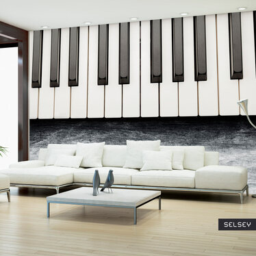 Fototapeta - Zainspirowane Chopinem - szary kamień 300x210 cm