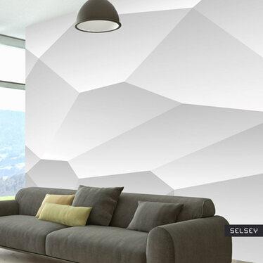 Fototapeta - Biała geometria 300x210 cm
