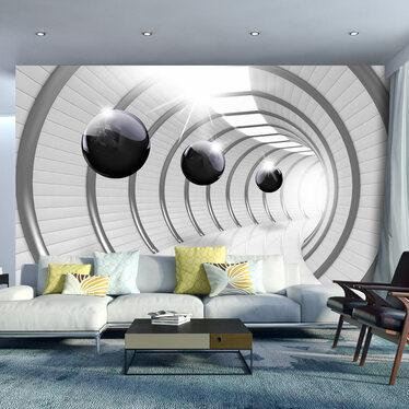 Fototapeta - Futurystyczny tunel 300x210 cm