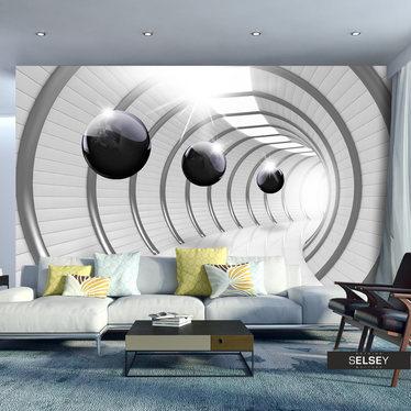 Fototapeta - Futurystyczny tunel 350x245 cm