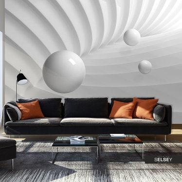 Fototapeta - Symetria bieli 400x280 cm