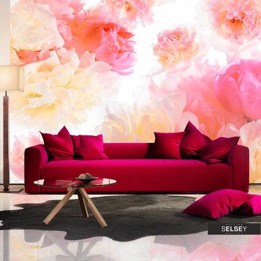 Fototapeta - Pastelowe piwonie 400x280 cm