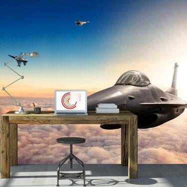 Fototapeta - Myśliwce F16 300x210 cm