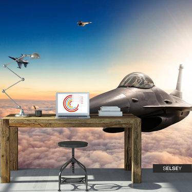 Fototapeta - Myśliwce F16 350x245 cm