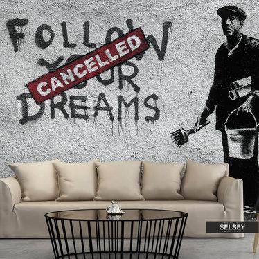 Fototapeta - Dreams Cancelled (Banksy) 350x245 cm