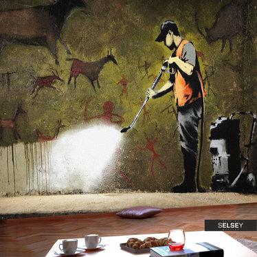 Fototapeta - Banksy - Cave Painting 350x245 cm