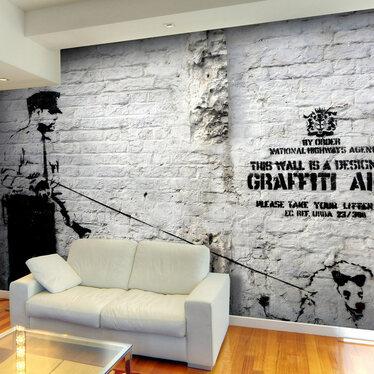 Fototapeta - Banksy - Graffiti Area 300x210 cm