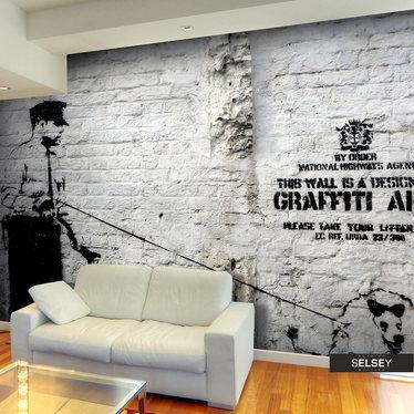 Fototapeta - Banksy - Graffiti Area 350x245 cm