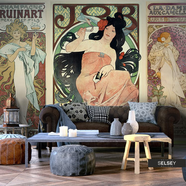Fototapeta - Alphonse Mucha. Kobiety 350x245 cm