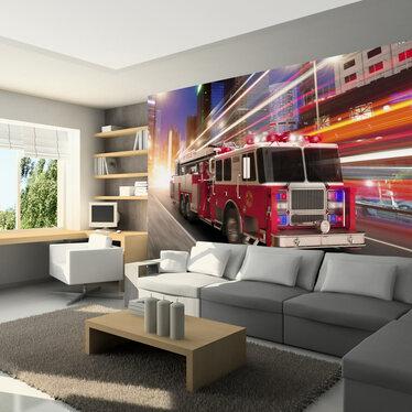 Fototapeta - Wóz strażacki 300x210 cm