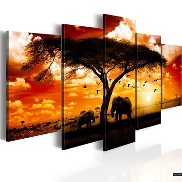 Obraz - Ptaki nad sawanną 200x100 cm