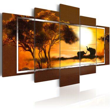 Obraz - Spotkanie nad sawanną 100x50 cm