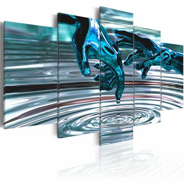 Obraz - Wodne kręgi 100x50 cm