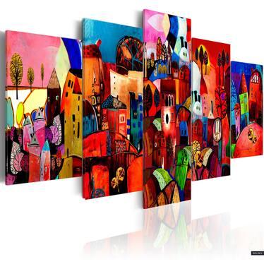 Obraz - Miasto 100x50 cm