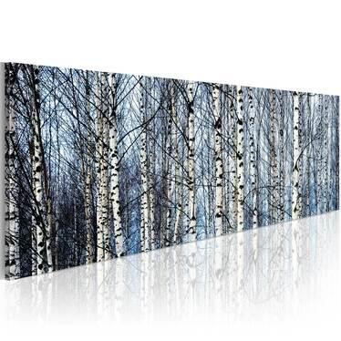 Obraz - Białe brzozy 120x40 cm