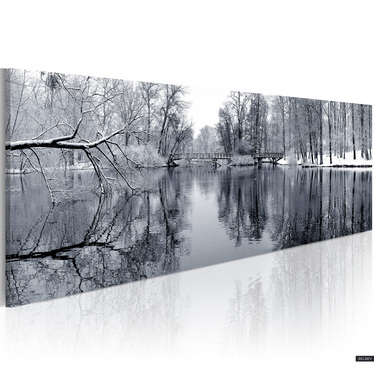 Obraz - pejzaż: zima  120x40 cm