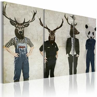 Obraz - Człowiek też zwierzę 120x80 cm