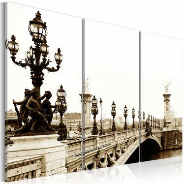 Obraz - Romantyczny spacer po Paryżu 120x80 cm