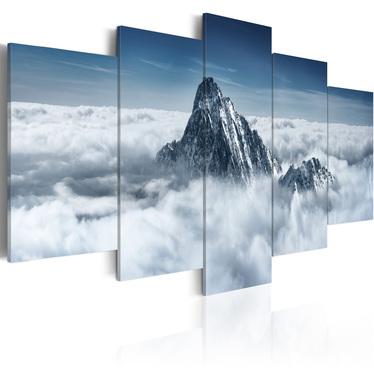 Obraz - Szczyt góry ponad chmurami 200x100 cm