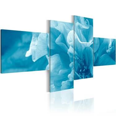 Obraz - Błękitny kwiat azalii 200x90 cm