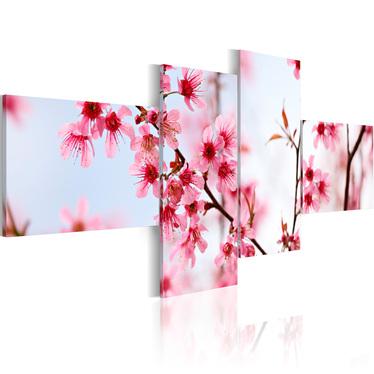 Obraz - Piękno kwiatów wiśni 100x45 cm