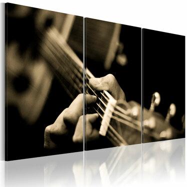 Obraz - Magiczny dźwięk gitary 120x80 cm
