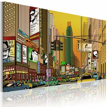 Obraz - NYC w komiksie 120x80 cm
