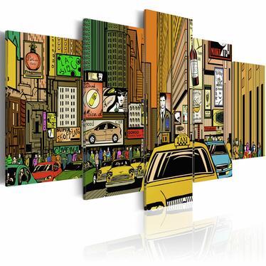 Obraz - Ulice Nowego Jorku w komiksie 100x50 cm