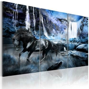 Obraz - Szafirowy wodospad 60x40 cm