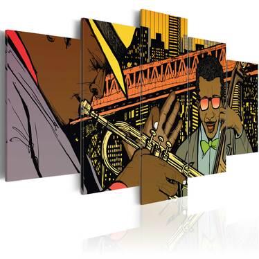 Obraz - Jazz w komiksie 100x50 cm