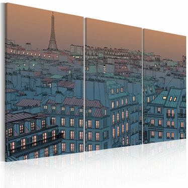 Obraz - Paryż - miasto idzie spać 120x80 cm