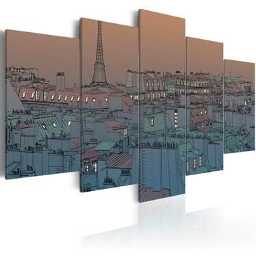 Obraz - Paryż - zapada zmrok 100x50 cm