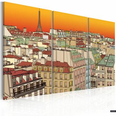 Obraz - Promienny Paryż 60x40 cm