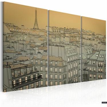 Obraz - Ostatnia chwila dnia - Paryż 120x80 cm