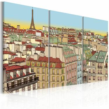 Obraz - Cukierkowy Paryż 120x80 cm