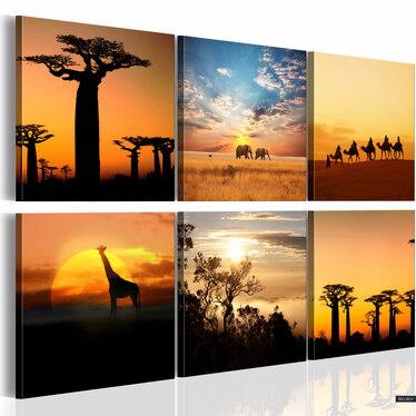 Obraz - Afrykańskie pejzaże 120x80 cm