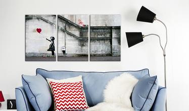 Obraz - Zawsze jest nadzieja (Banksy) - tryptyk 120x60 cm
