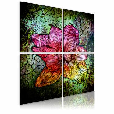 Obraz - Szklany kwiat 80x80 cm