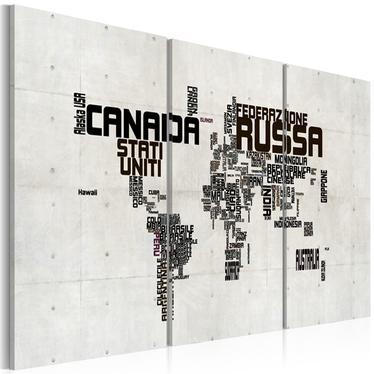 Obraz - mapa - po włosku 120x60 cm