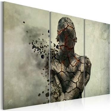 Obraz - The man of stone - triptych 60x40 cm