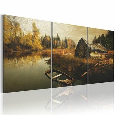 Obraz - Chata na uboczu 60x30 cm