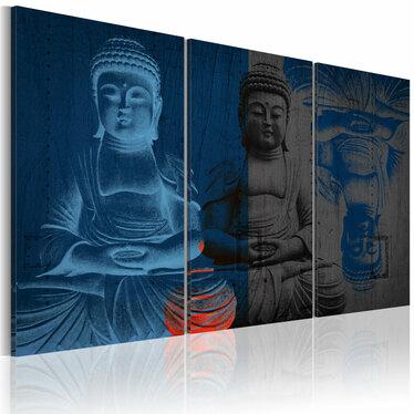 Obraz - Budda - rzeźba 120x80 cm