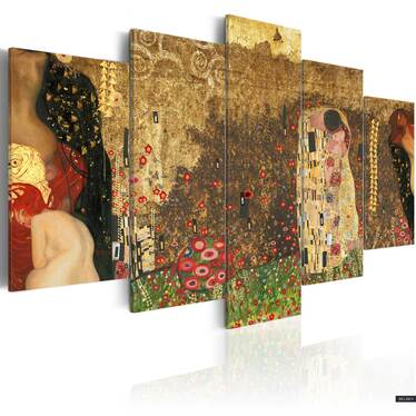 Obraz - Klimt's muses 100x50 cm