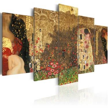 Obraz - Klimt's muses 200x100 cm
