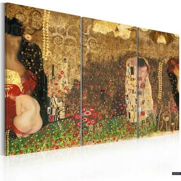 Obraz - Gustav Klimt - inspiracja, tryptyk 120x80 cm