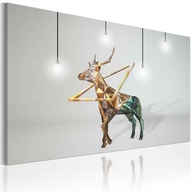 Obraz - Złoty jeleń 90x60 cm