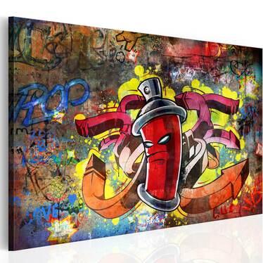 Obraz - Graffiti master 90x60 cm
